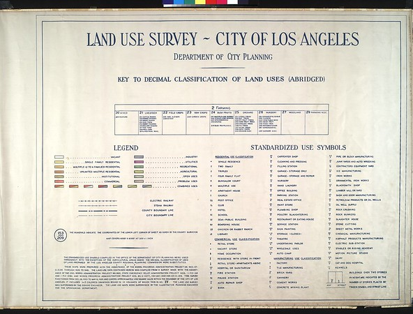 WPA Land use survey map for the City of Los Angeles, book 4 (Van Nuys District to Garvanza District), sheet 4