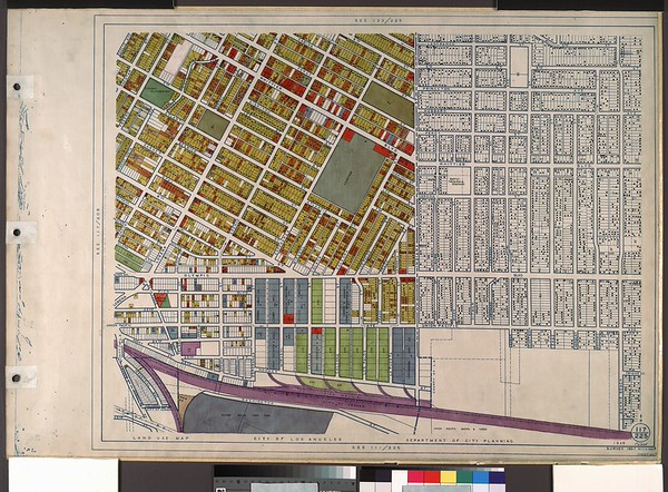 WPA Land use survey map for the City of Los Angeles, book 8 (Downtown Los Angeles and Hyde Park to Watts District), sheet 7