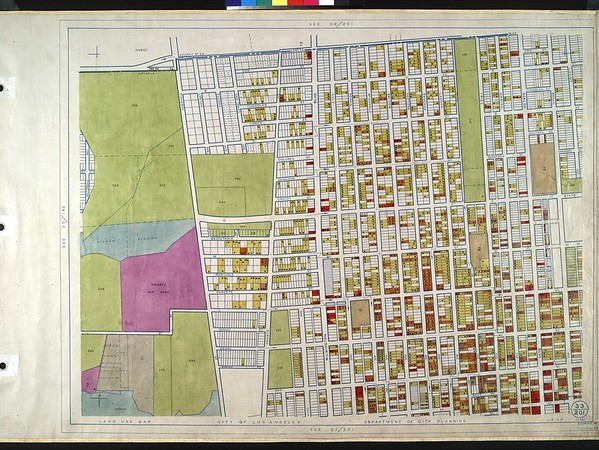 WPA Land use survey map for the City of Los Angeles, book 10 (Shoestring Addition to San Pedro District), sheet 15