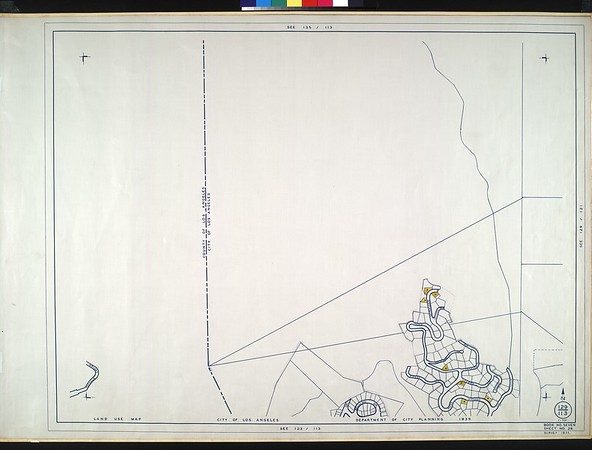 WPA Land use survey map for the City of Los Angeles, book 7 (Topanga Canyon to Hollywood District), sheet 28