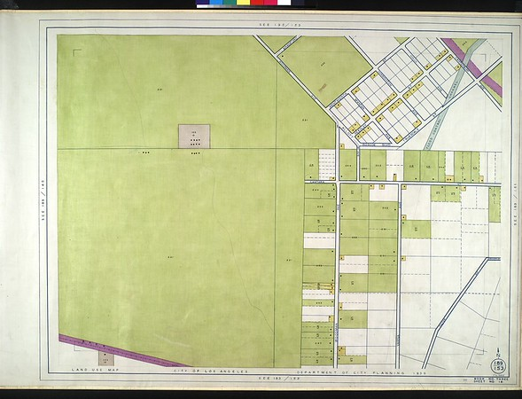 WPA Land use survey map for the City of Los Angeles, book 3 (San Fernando Valley from Canoga Park District to Van Nuys District), sheet 18