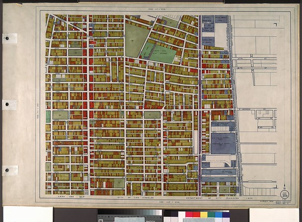 WPA Land use survey map for the City of Los Angeles, book 8 (Downtown Los Angeles and Hyde Park to Watts District), sheet 11