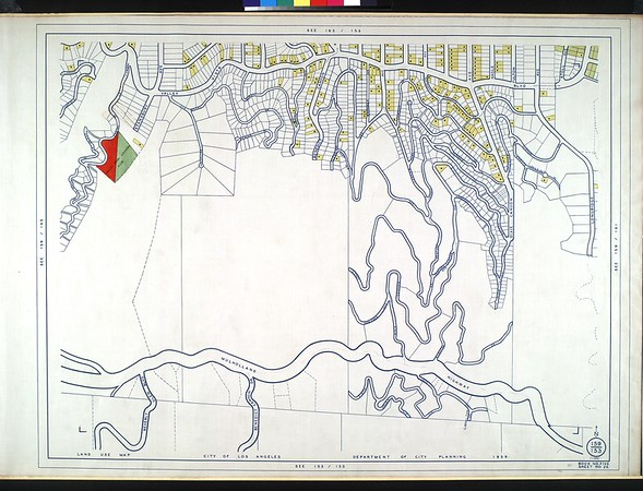 WPA Land use survey map for the City of Los Angeles, book 5 (Santa Monica Mountains from Girard to Van Nuys District), sheet 25