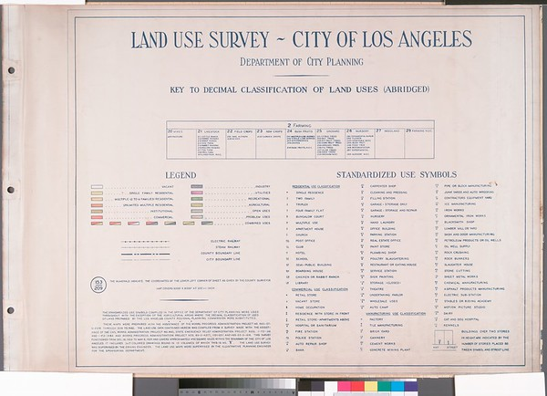 WPA Land use survey map for the City of Los Angeles, book 5 (Santa Monica Mountains from Girard to Van Nuys District), sheet 1