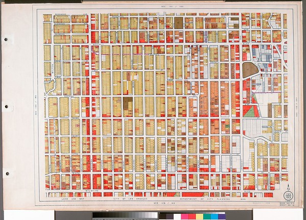 WPA Land use survey map for the City of Los Angeles, book 6 (Hollywood District to Boyle Heights District), sheet 19