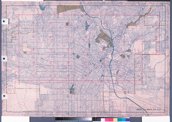 WPA Land use survey map for the City of Los Angeles, book 6 (Hollywood District to Boyle Heights District), sheet 34
