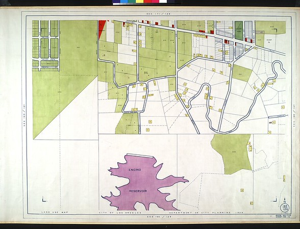 WPA Land use survey map for the City of Los Angeles, book 5 (Santa Monica Mountains from Girard to Van Nuys District), sheet 15