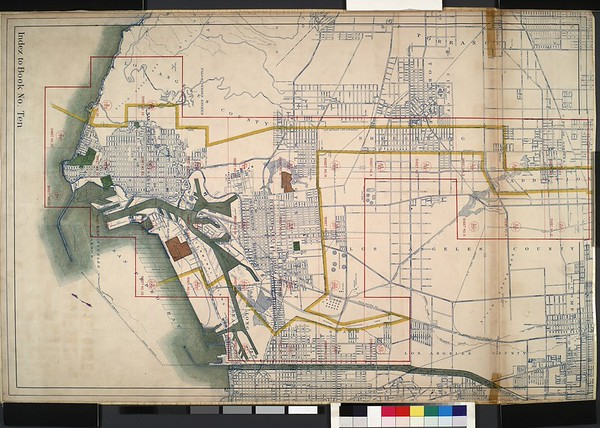 WPA Land use survey map for the City of Los Angeles, book 10 (Shoestring Addition to San Pedro District), sheet 28