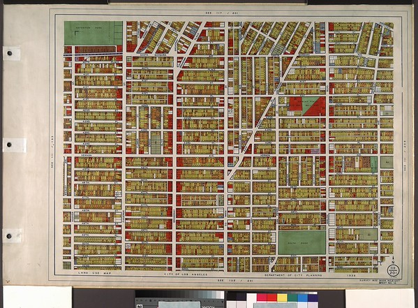 WPA Land use survey map for the City of Los Angeles, book 8 (Downtown Los Angeles and Hyde Park to Watts District), sheet 10