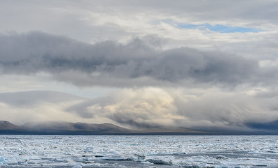 Our first sight of Wrangel Island
