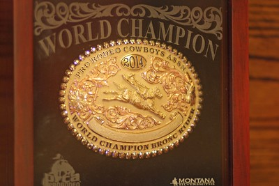 World Champion Saddle Bronc buckle.