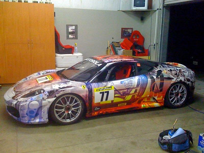 Custom wrap on a Ferrari F-430 in Los Angeles, CAwww.skinzwraps.com