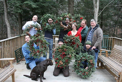 At the end of the day we all posed for photos with our wreaths.