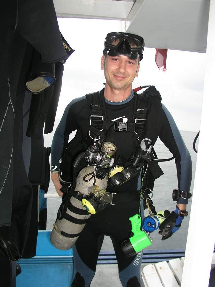 One of the recreational divers on board