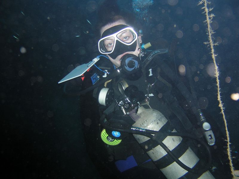 One of the recreational divers on the boat looking not at all narked :-)