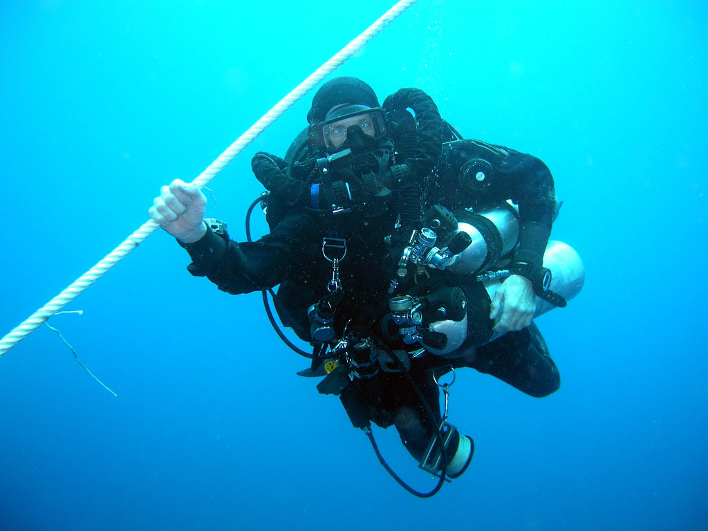 Photographic proof that rebreathers make you go cross eyed