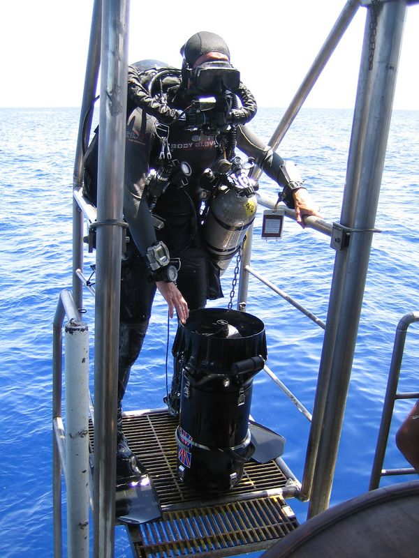 Back from 100m dive to yet another virgin wreck - yawn