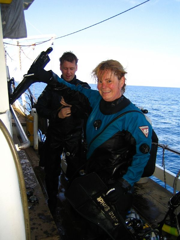 Only a Swede would wear a drysuit in 30DegC!
