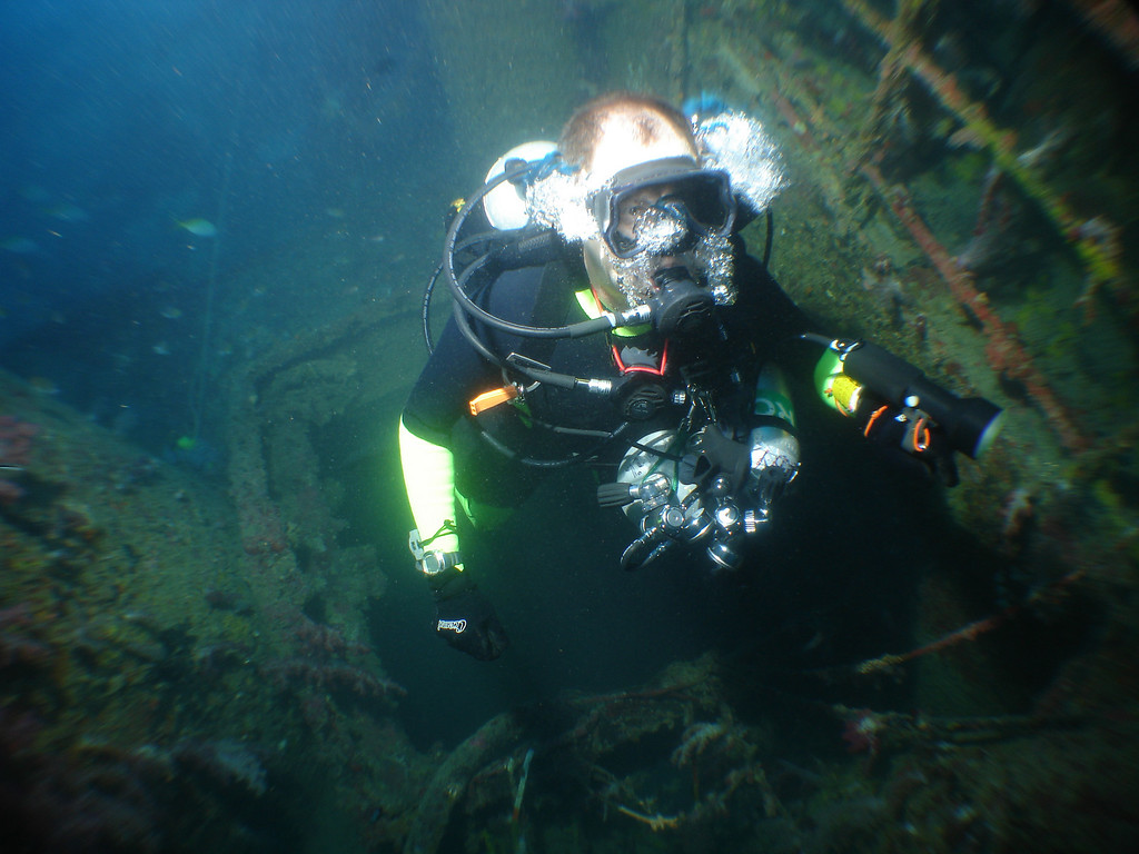 What a waste of perfectly good gas!  Rebreathers are more environmentaly friendly