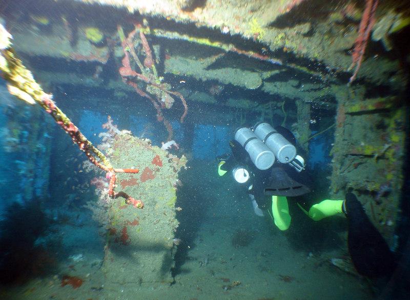 RGB (Rotten Gay Bannana)swims through the wheel house of the Garsa Dua