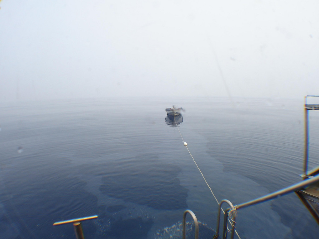 Close to perfect conditions: mirror flat sea, no current