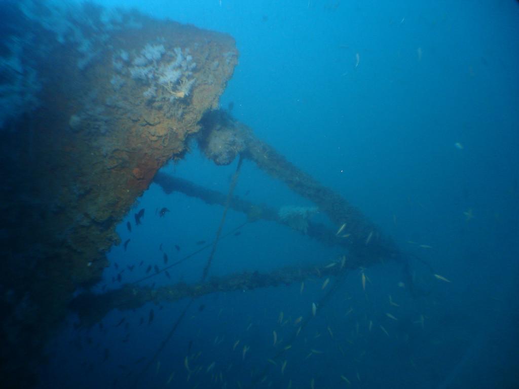HMS Repulse bow mast