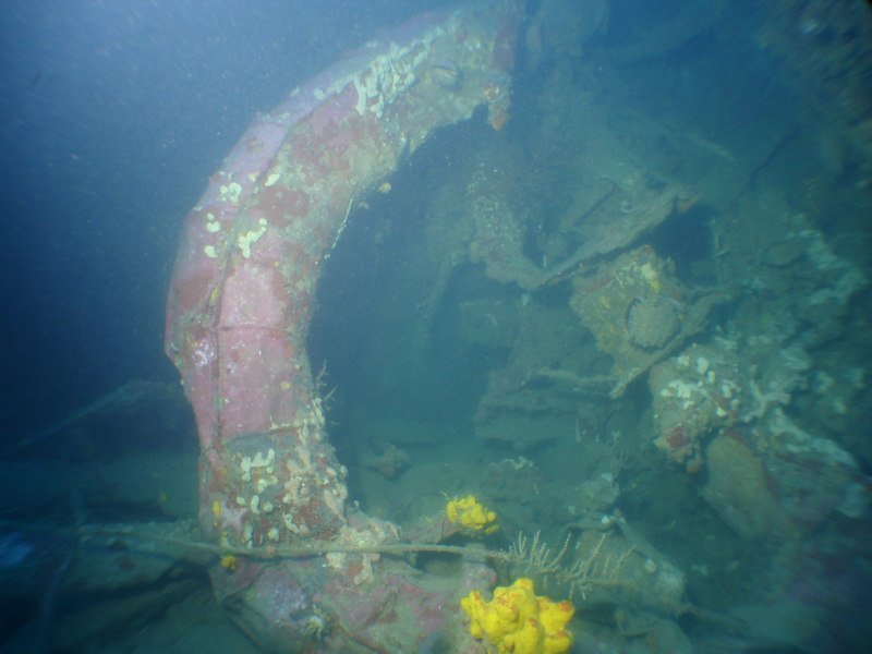 One of the many lifeboats on the wreck