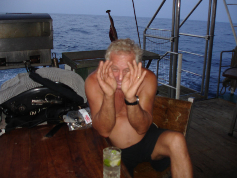 The big man after just one or two too many G&Ts :-)