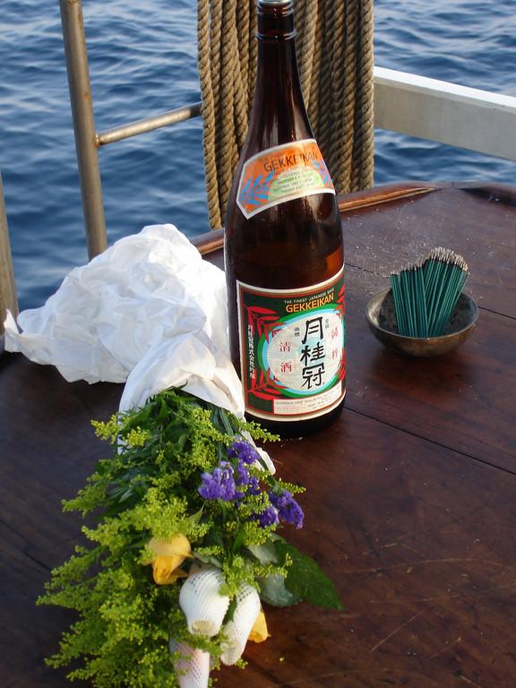 Hori-sans memorial service on board