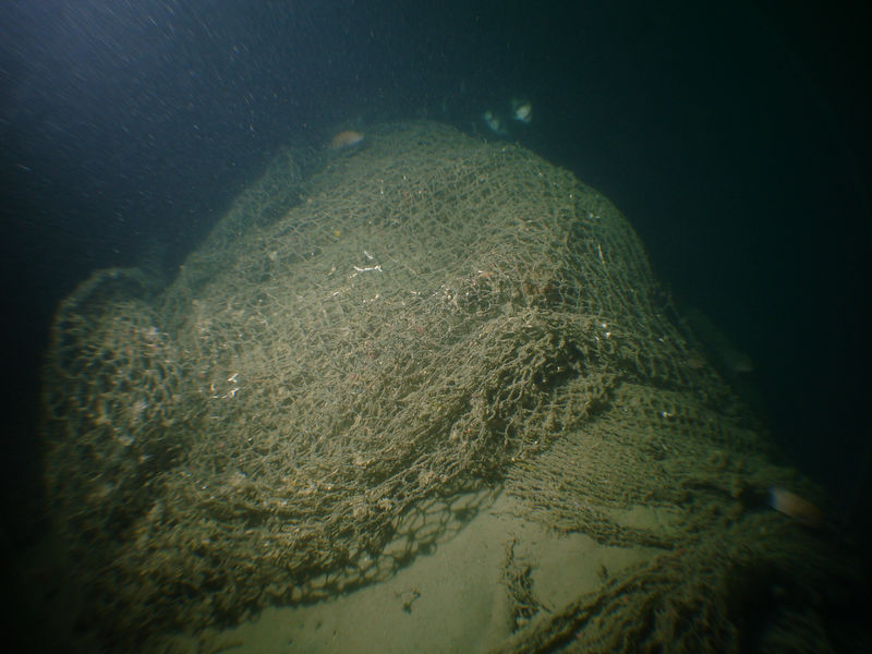 Hull covered in nets