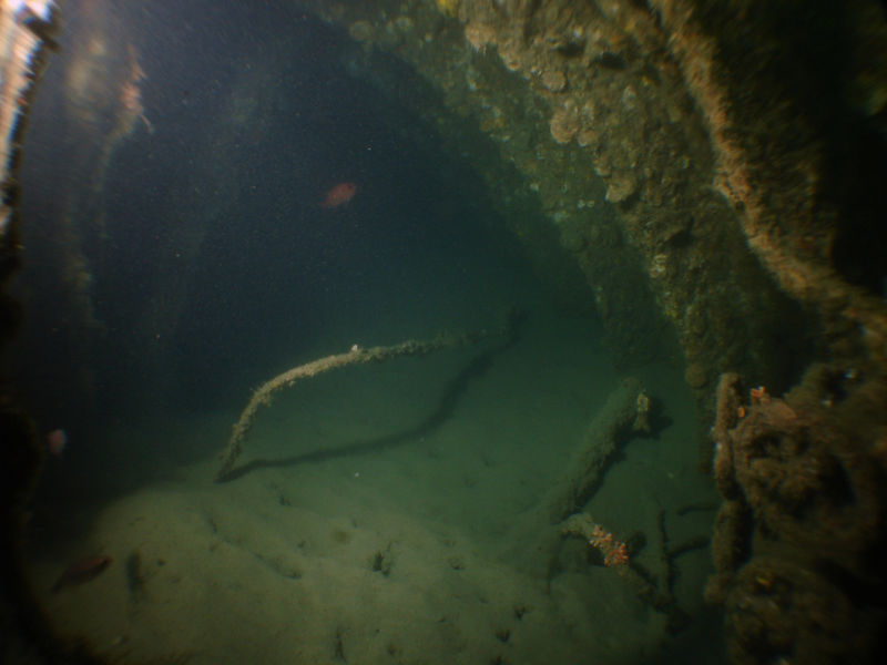 Inside the silty sub.