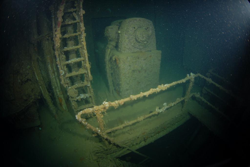 One of 2 generators in engine room