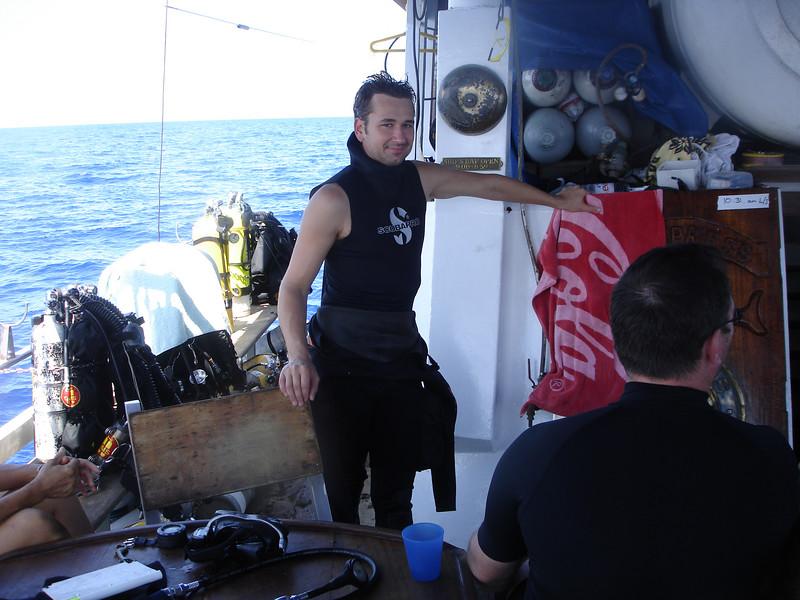 John is by far the cutest on board