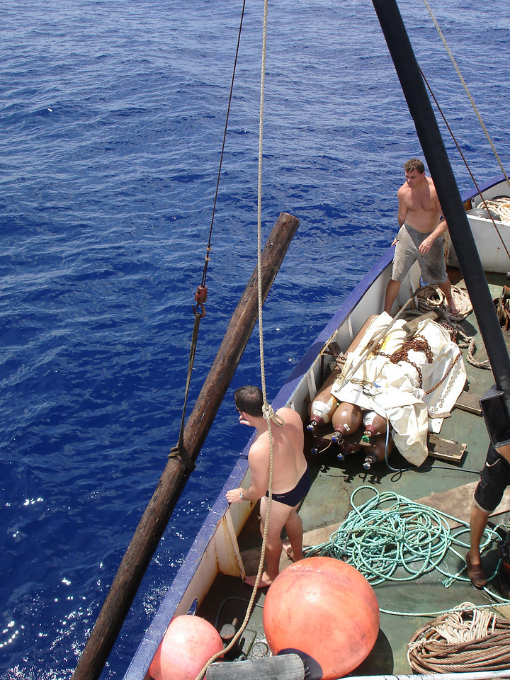 Craigs log lifted onboard