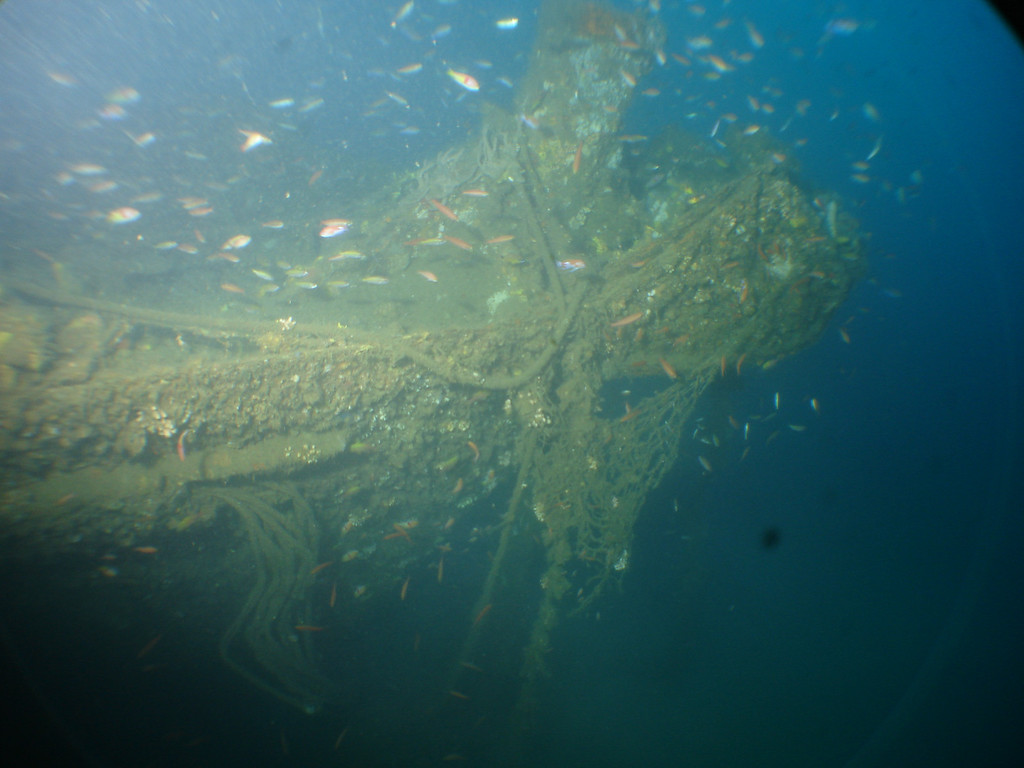 bow of Kyo Maru in 70m
