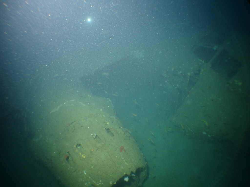 B26 Bomber wreck in 70m