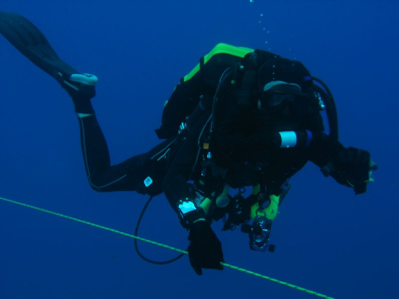 Me diving my Inspiration rebreather - Truk Lagoon
