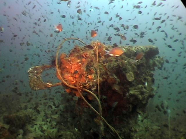 Bow gun on the tanker 'Samui'