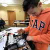 The Leominster Library University Jr. program held a Wreck the Tech program on Saturday, January 12, 2019. During this tech take apart party, kids where able to explore and take apart keyboards, desk phones, VCRs, one small Herbie VW bug & more! This is a great opportunity to figure out how things are put together and how they work. Michael kelley, 11, takes apart a VCR player during the program. SENTINEL & ENTERPRISE/JOHN LOVE