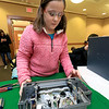 The Leominster Library University Jr. program held a Wreck the Tech program on Saturday, January 12, 2019. During this tech take apart party, kids where able to explore and take apart keyboards, desk phones, VCRs, one small Herbie VW bug & more! This is a great opportunity to figure out how things are put together and how they work. Sarah Peterson, 11, takes apart an old VHS machine during the program. SENTINEL & ENTERPRISE/JOHN LOVE