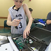 The Leominster Library University Jr. program held a Wreck the Tech program on Saturday, January 12, 2019. During this tech take apart party, kids where able to explore and take apart keyboards, desk phones, VCRs, one small Herbie VW bug & more! This is a great opportunity to figure out how things are put together and how they work. Liam Keane, 10, works on taking a laptop apart during the program. SENTINEL & ENTERPRISE/JOHN LOVE
