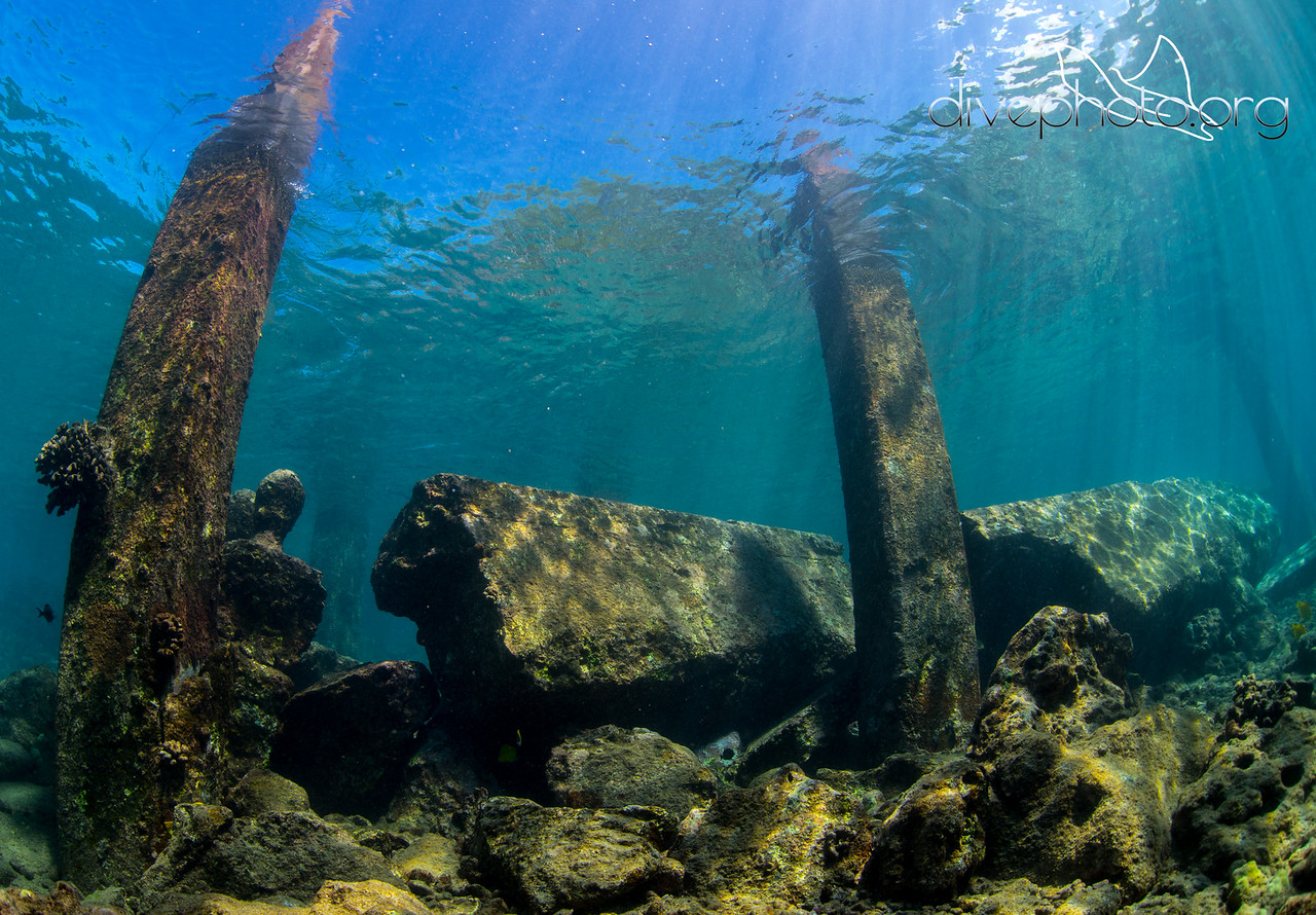 Pilings at Mahukona, Hawaii Island