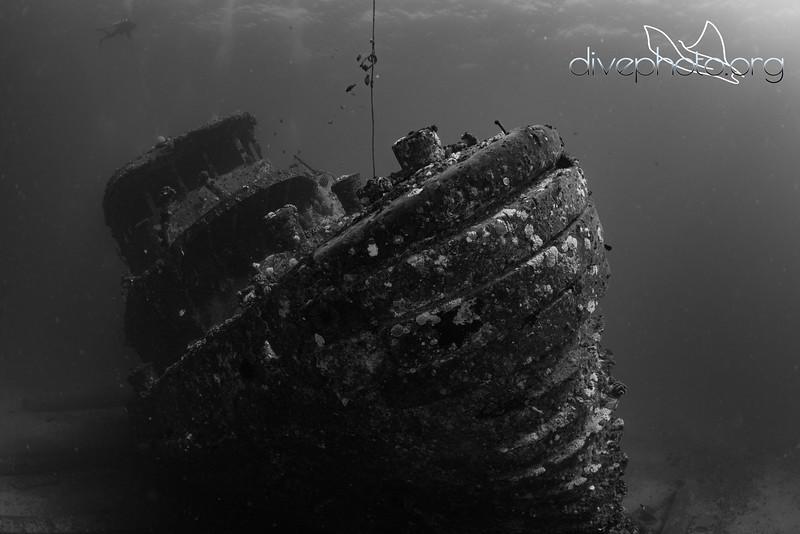 US Navy tugboat on seafloor