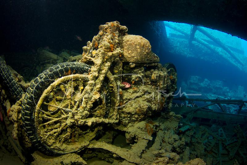 Motorbike on SS Thistlegorm
