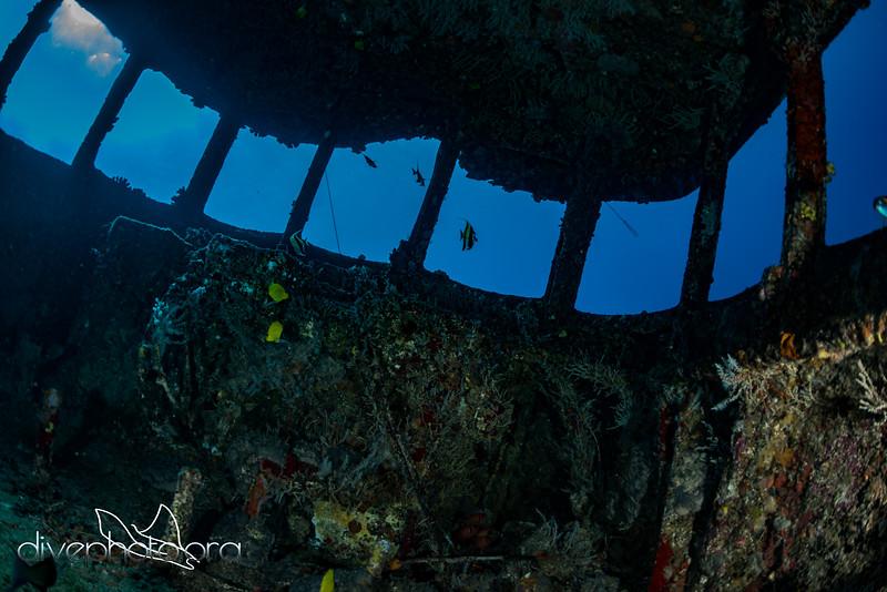 Bridge inside US Navy tugboat