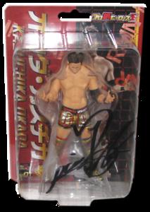 Kazuchika Okada Autographed NJPW AJPW CMLL NOAH Japanese Wrestling Figure