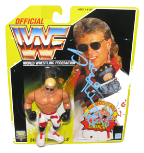Shawn Michaels Autographed WWF Hasbro (Yellow Card) Series 7 Figure