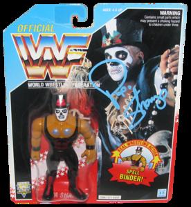 Papa Shango Autographed WWF Hasbro (Blue Card) Series 6 Figure