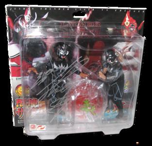 """Jushin """"Thunder"""" Lyger Autographed NJPW AJPW CMLL NOAH Japanese Wrestling Figure 2-Pack (Variant)"""