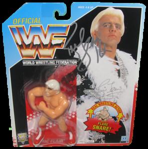 Ric Flair Autographed WWF Hasbro (Blue Card) Series 6 Figure